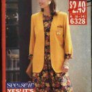 Butterick Sewing Pattern 6328 Misses Size 6-14 Easy Jacket Pullover Top Gathered Skirt