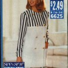 Butterick Sewing Pattern 6625 B6625 Misses Size 16-24 Easy Double Breasted Top Flounce Skirt