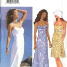 Butterick Sewing Pattern 6640 Misses Size 6-10 Easy Halter Short Long Sundress Summer Dress Hat