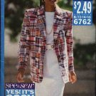 Butterick Sewing Pattern 6762 Misses Size 12-16 Easy Straight Skirt Jacket Pullover Short Sleeve Top