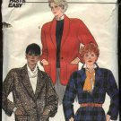 Retro Butterick Sewing Pattern 6882 Misses Size 8-10-12 Button Front Long Sleeve Jacket