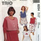 McCall's Sewing Pattern 8254 Misses Size 4-6 Maternity Nursing Breastfeeding Pullover Top