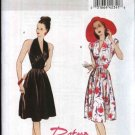 Butterick Sewing Pattern 5209 Misses Size 6-12 Easy Retro 1947 Style Halter Top Full Skirt Dress