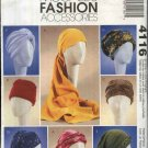 McCall's Sewing Pattern 4116 Misses Small-Large Fashion Accessories Hats Turbans Headwrap