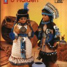 "Annie's Attic Crochet Indian Brave and Maiden Pattern 8B072 15"" Doll Clothes Native American"