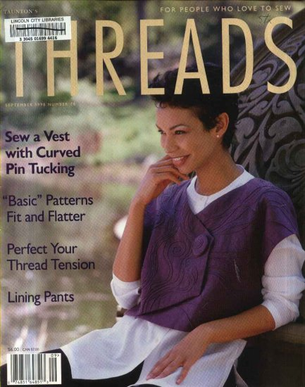 Threads Magazine Back Issue August September 1998 Issue 78 Used
