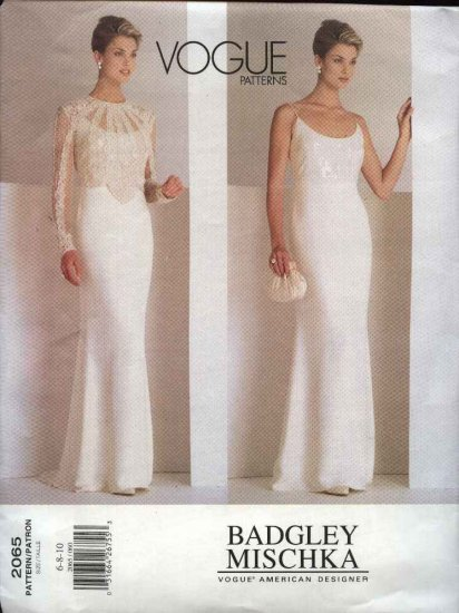 Vogue Sewing Pattern 2065 Misses Size 18-20-22 Badgley Mischka Evening Gown Formal Dress Top