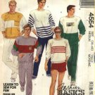 "McCalls Sewing Pattern 4554 M4554 Mens Chest Size 38-40"" Knit Pullover Top Long Pants Shorts"