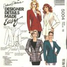 McCalls Sewing Pattern 5004 Misses Size 20 Easy Lined Button Front Cardigan Jacket Collar Options