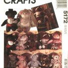 "McCalls Sewing Patterns 5172 M5172 680 Stuffed 21"" Bear Dolls Clothes Bride Groom Santa Ballerina"