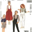 McCalls Sewing Pattern 5185 M5185 Girls Size 12 Easy Knit Pullover Top Jumper Jumpsuit Romper