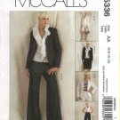 McCalls Sewing Pattern 5336 Misses Size 6-12 Wardrobe Lined Jacket Blouse Top Skirt Pants