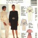 McCalls Sewing Pattern 5529 Misses Size 12 Nancy Zieman Long Short Sleeve Jumpsuit Dress Belt