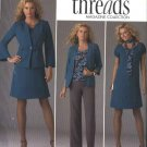 Simplicity Sewing Pattern 2474 Misses Size 10-18 Threads Wardrobe Dress Top Jackets Pants