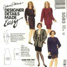 McCall's Sewing Pattern 5583 Misses Size 12 Palmer Pletsch Easy Top Straight Skirt Jacket Suit