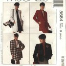 McCall's Sewing Pattern 5584 Misses Size 8-10-12 Easy Woman's Day Collection Jacket Coat