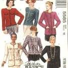 McCall's Sewing Pattern 5585 Misses Size 18 Basic Button Front Unlined Long Sleeve Cardigan Jacket