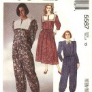 McCall's Sewing Pattern 5587 Misses Size 12 Full Skirt button Front Top Loose Fitting Pants