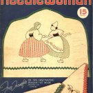 Vintage Needlewoman 1938 Magazine Sewing Embroidery Transfers Knitting