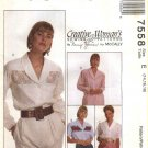 McCall's Sewing Pattern 7558 Misses Size 14-16-18 Nancy Zieman Blouses Decorative Front Insert