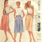 McCall's Sewing Pattern 7076 Misses Size 18 Classic Softly Gathered Skirts Side Front Button
