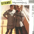 McCall's Sewing Pattern 5612 Misses Size 8 Gitano Wardrobe Hooded Jacket Straight Skirt Pants