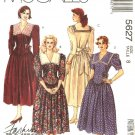 McCall's Sewing Pattern 5627 M5627 Misses Size 8 Basic Fitted Basque Bodice Full Skirt Dress