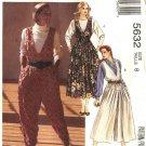McCall's Sewing Pattern 5632 Misses Size 8 Jumpsuit Split-Skirt Full Skirt Jumpers