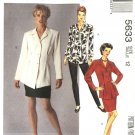 McCall's Sewing Pattern 5633 Misses Size 8 Button Front Long Sleeve Top Straight Skirt Leggings