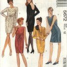 McCall's Sewing Pattern 5672 Misses Size 18 Easy Chemise Sheath Straight Dresses