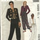 McCall's Sewing Pattern 5699 Misses Size 12 Easy Lined Cropped Jacket Camisole Loose Fitting Pants