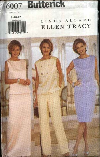 Butterick Sewing Pattern 6007 B6007 Misses Size 14-18 Formal Two-piece Dress Top Skirt Pants