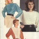 Retro Butterick Sewing Pattern 6014 Misses Size 14 Short Long Dolman Sleeve Blouse