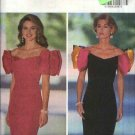 Butterick Sewing Pattern 6057 Misses Size 6-8-10-12 Formal Off The Shoulder Staight Short Dress