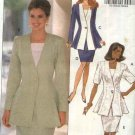 Butterick Sewing Pattern 6065 Misses 12-14-16 Easy Suit Jacket Straight Skirt Sleeveless Top