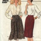 Butterick Sewing Pattern 6087 Misses Size 14 Easy Classic Straight Flared Skirts