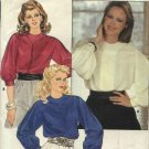 Butterick Sewing Pattern 6132 Misses Size 16 Shoulder Button Closure Long Sleeve Blouses
