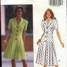 Butterick Sewing Pattern 6132 Misses Size 6-8-10-12 Easy Snap Closing  Front Pleated Skirt Dress
