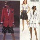 Butterick Sewing Pattern 6155 Misses Size 6-8-10 Easy Long Sleeve Jacket Sleeveless Top Shorts