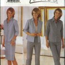 Butterick Sewing Pattern 6163 Misses Size 6-8-10 Easy Long Pants Straight Skirt Button Front Top