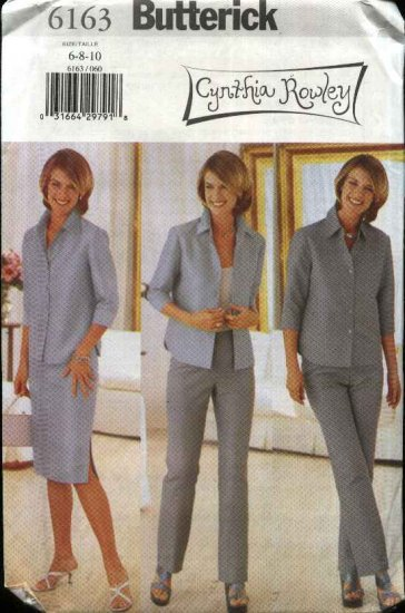 Butterick Sewing Pattern 6163 Misses Size 12-14-16 Easy Long Pants Straight Skirt Button Front Top