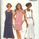 Butterick Sewing Pattern 6211 Misses Size 6-8-10 Easy Two Piece Dress Sleeveless Top Pleated Skirt
