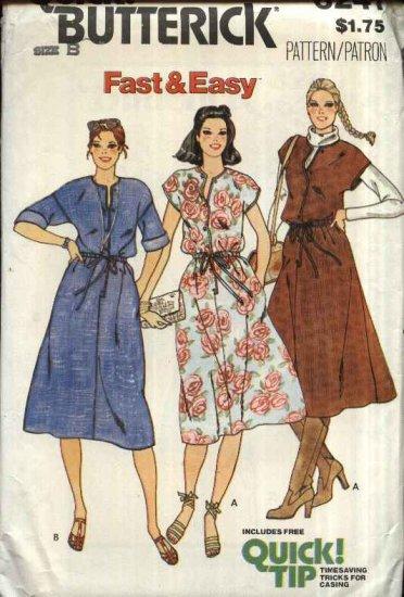 Retro Butterick Sewing Pattern 6241 Junior Size 7-9-11 Easy Sleeveless Short Sleeve Dress Jumper