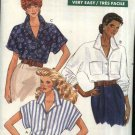Butterick Sewing Pattern 6241 Misses Size 8-10-12 Easy Button Front Long Short Sleeves Blouse Top