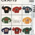 McCall's Sewing Pattern 7770 M7770 Creative Clothing Appliques Christmas Halloween Noah's Ark