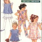 Butterick Sewing Pattern 6259 Toddler Girls Size 1-2-3 Easy Summer Wardrobe Dress Top Pants Skirt