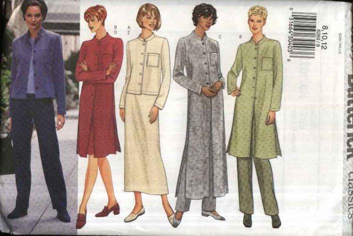 Butterick Sewing Pattern 6269 B6269 Misses Size 20-24 Easy Wardrobe Jacket Duster Skirt Pants