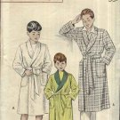 "Vintage 1952 Butterick Sewing Pattern 6276 Boys Size 6 Chest 24"" Front Wrap Bath Robe Belt"