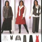 Simplicity Sewing Pattern 2566 Misses Size 10-18 Wardrobe Blouse Vest Pants Skirt Jumper