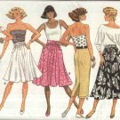 Butterick Sewing Pattern 5676 Misses Size 6-14 Easy Classic Straight Flared Skirts Length Options